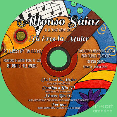 Backstreet Boys Photograph - Alfonso Sainz Tu Eres La Mujer Album Cover By Diana Sainz by Diana Sainz