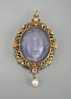 Medusa Drawing - Alfred André French, 1839 - 1919, Pendant With The Head by Quint Lox