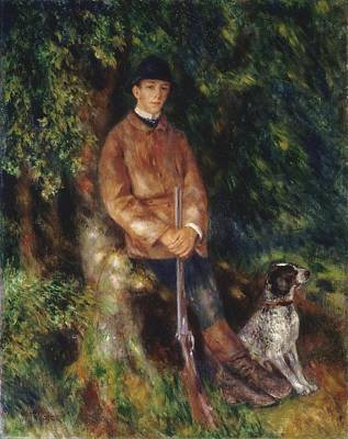 Pierre August Painting - Alfred Berard And His Dog by Celestial Images