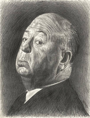 Drawing - Alfred Hitchcock by Michael Morgan