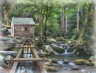 Grist Mill Mixed Media - Alfred Reagan's Tub Mill by Philip White
