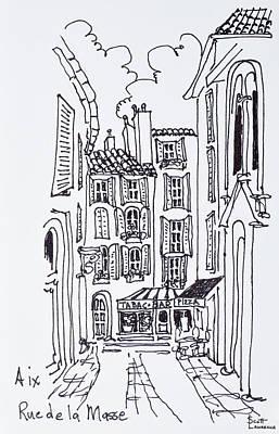Alfresco Dining In A Plaza, Aix En Art Print