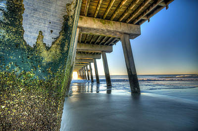 Photograph - Algae On A Pier  by Anthony Doudt