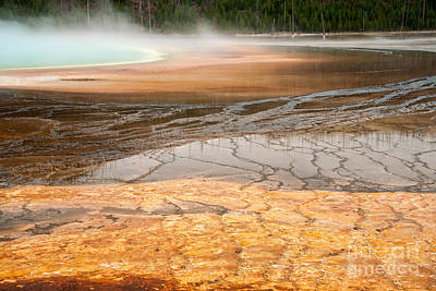 Photograph - Algae Patterns At The Grand Prismatic Spring At Midway Geyser Basin by Fred Stearns