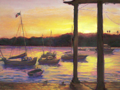 Pastel - Algarve Sunset by Harriett Masterson