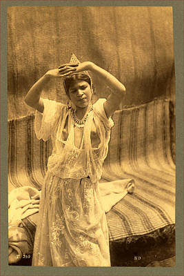 Berber Woman Photograph - Algeria. Tlemcen, Young Moorish Woman, Neurdein Brothers by Litz Collection
