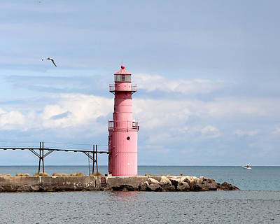 Photograph - Algoma Pierhead Lighthouse  by George Jones