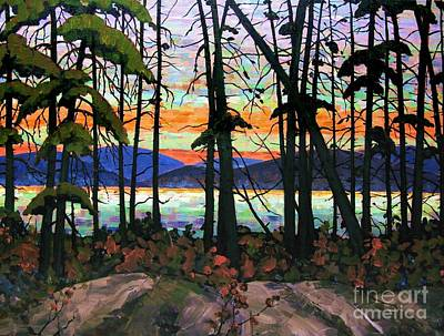 Painting - Algoma Sunset Acrylic On Canvas by Michael Swanson