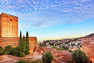 Alhambra, Castle, Morning Sky, Granada Art Print