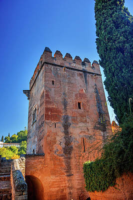Alhambra, Castle, Tower Walls, Granada Art Print