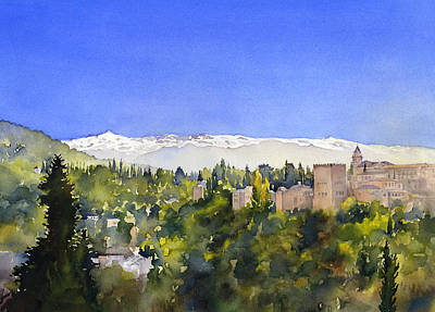 Alhambra Granada Art Print by Margaret Merry