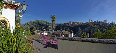 Alhambra Photograph - Alhambra Palace From Albaicin, Granada by Panoramic Images