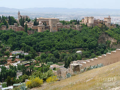 Art Print featuring the photograph Alhambra Palace - Granada by Phil Banks