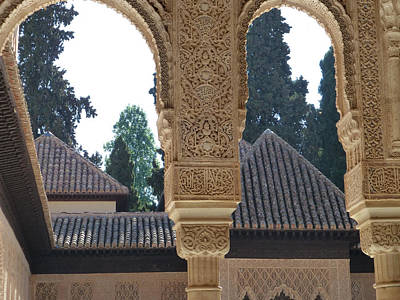 Photograph - Alhambra Palace Rooftops  by Susan Alvaro