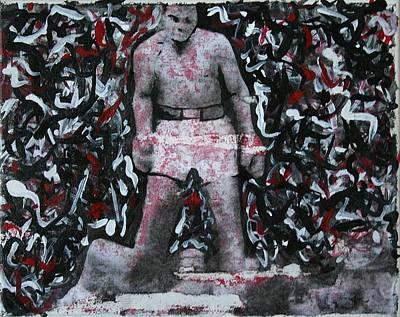 Knockout Mixed Media - Ali 1 by Jose A Gonzalez