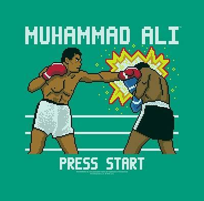Boxer Digital Art - Ali - 8 Bit Ali by Brand A