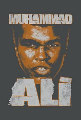 Boxer Digital Art - Ali - Angry Orange by Brand A