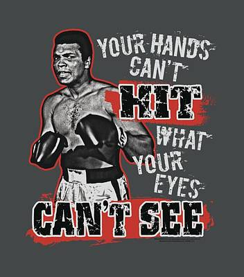 Boxer Digital Art - Ali - Can't Hit by Brand A