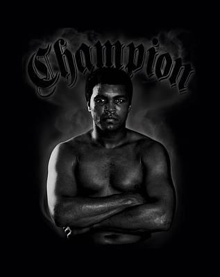 Boxer Digital Art - Ali - Champion by Brand A