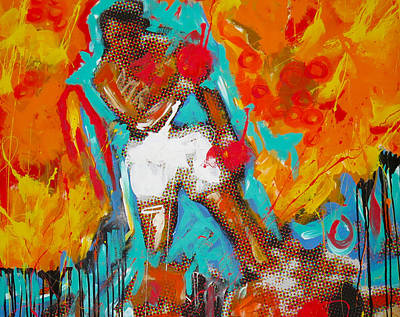 Boxing Sports Painting - Ali by Elliott From