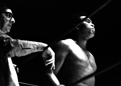 Photograph - Ali In His Corner by Robert  Rodvik