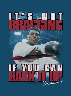 Boxer Digital Art - Ali - Not Bragging by Brand A