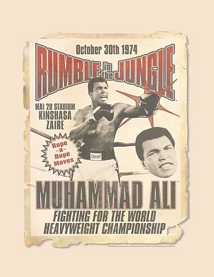 Boxer Digital Art - Ali - Rumble Poster by Brand A