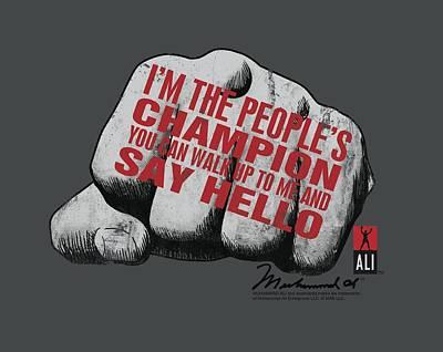 Boxer Digital Art - Ali - Say Hello by Brand A