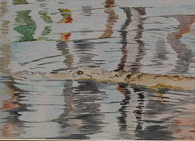 Painting - Ali The Alligator by Teresa Smith