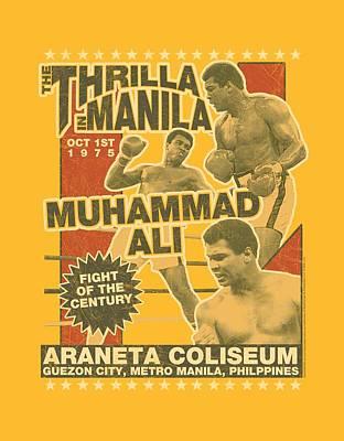 Boxer Digital Art - Ali - Thrilla by Brand A