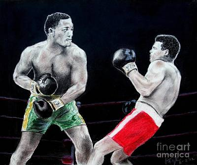 Drawing - Ali Vs Frazier I by Jim Fitzpatrick