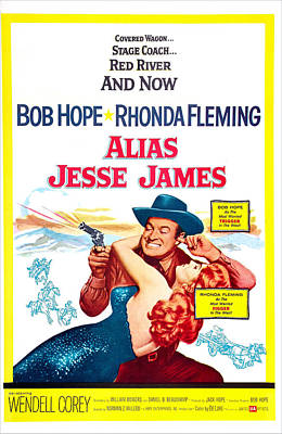Horse And Wagon Photograph - Alias Jesse James, Us Poster, Bob Hope by Everett