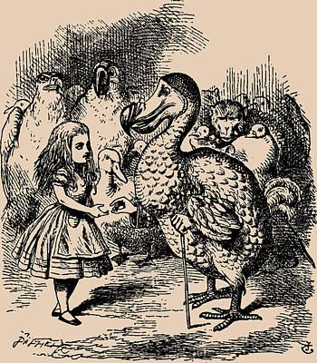 Alice And Dodo Birds Art Print