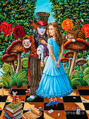 Alice And Mad Hatter. Part 2 Art Print by Igor Postash