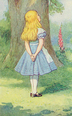 Children Stories Drawing - Alice In Wonderland by John Tenniel