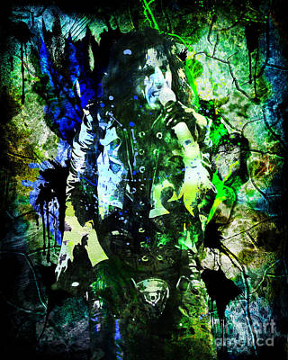 Alice Cooper - Feed My Frankenstein - Original Painting Print Original by Ryan Rock Artist