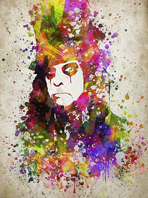 Musician Digital Art - Alice Cooper in Color by Aged Pixel