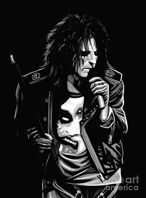 Heavy Metal Mixed Media - Alice Cooper by Meijering Manupix