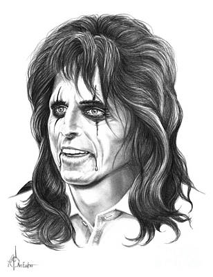 Alice Cooper Art Print by Murphy Elliott