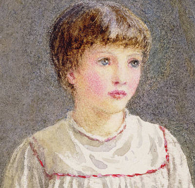 White Shirt Painting - Alice by Helen Allingham