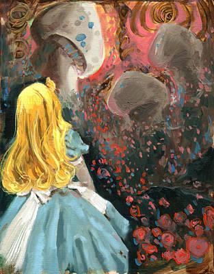Alice In Mushroom Acres Original by Luis  Navarro
