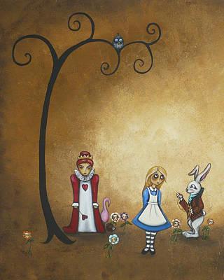 Alice In Wonderland Painting - Alice In Wonderland Art - Encore - I by Charlene Zatloukal