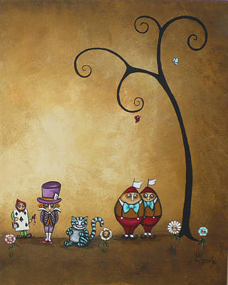 Alice In Wonderland Art - Encore - II Art Print by Charlene Zatloukal