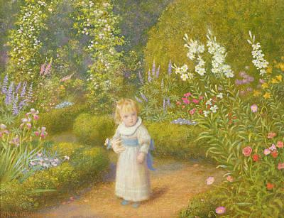 Make Believe Painting - Alice In Wonderland by Arthur Hughes