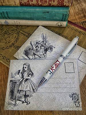 Handmade Book Photograph - Alice In Wonderland by Gillian Singleton