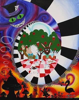 Mad Hatter Painting - Alice In Wonderland by Laura Wiesch