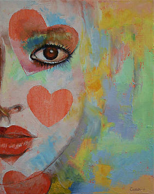 Mike Painting - Alice In Wonderland by Michael Creese