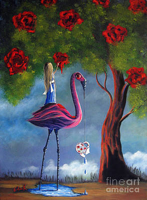 Lowbrow Painting - Alice In Wonderland Artwork  by Shawna Erback