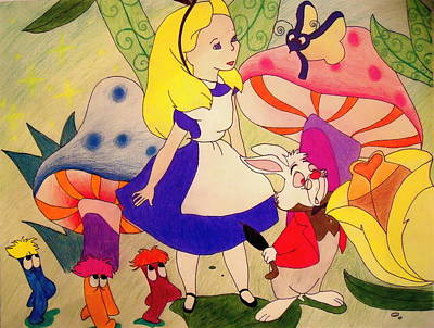 Jessica Sanders Drawing - Alice by Jessica Sanders