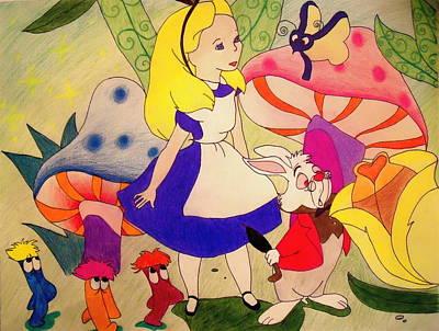 Alice Art Print by Jessica Sanders